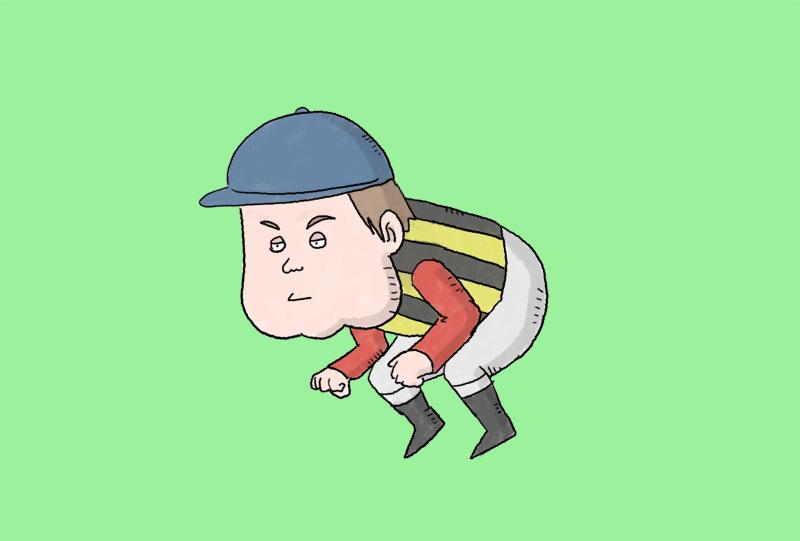 池添謙一騎手のイラスト
