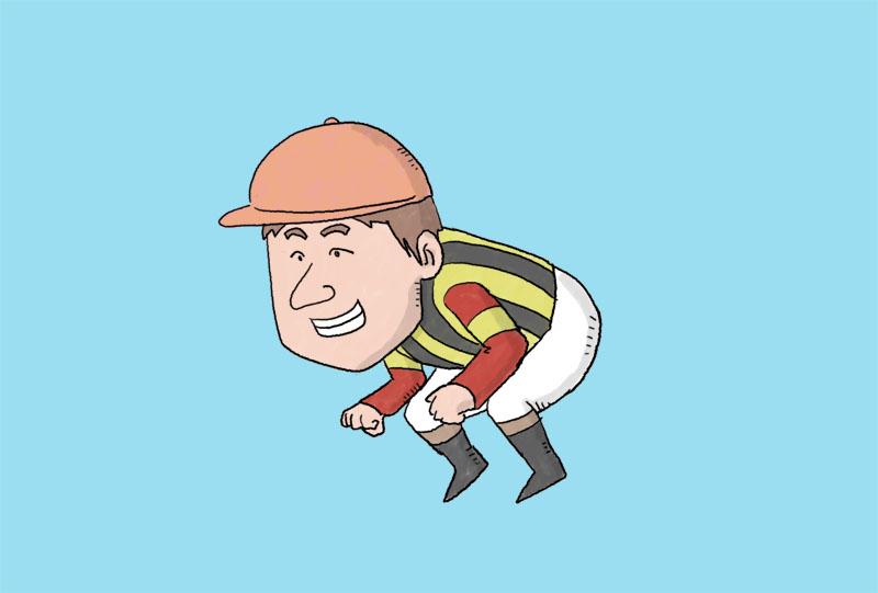 和田竜二騎手のイラスト