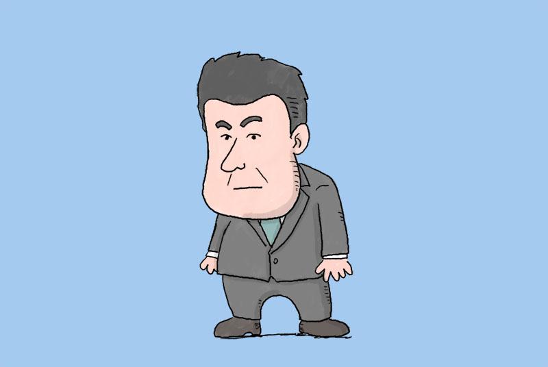 友道康夫調教師のイラスト